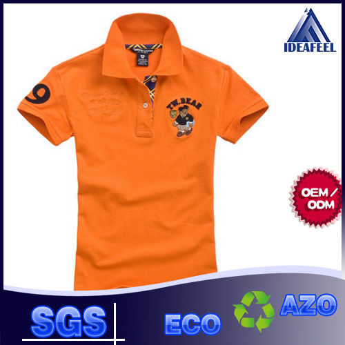 Short Sleeve Mens Patterned Polo Shirts With 92% Polyester 8% Spandex